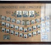 VIII osztály tablója 1940-1948-ből (Fotózott tabló)
