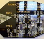 matematika-fizika tagozat osztály tablója 1965-1969-ből (Fotózott tabló)
