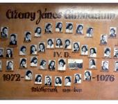 4.D osztály tablója 1972-1976-ből (Fotózott tabló)
