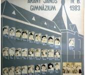 4.B osztály tablója 1979-1983-ből (Fotózott tabló)