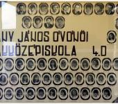 4.D osztály tablója 1981-1985-ből (Fotózott tabló)