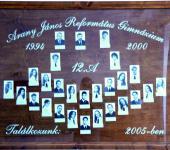 12.A osztály tablója 1994-2000-ből (Fotózott tabló)
