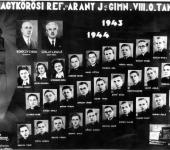 VIII osztály tablója 1943-1944-ből (Szkennelt tablókép)