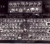 4.ABC osztály tablója 1954-1958-ből (Szkennelt tablókép)