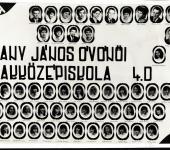 4.D osztály tablója 1981-1985-ből (Szkennelt tablókép)