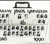 4.B osztály tablója 1986-1990-ből (Szkennelt tablókép)