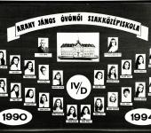 4.D osztály tablója 1990-1994-ből (Szkennelt tablókép)