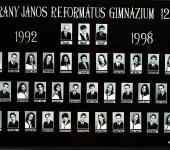 12.A osztály tablója 1992-1998-ből (Szkennelt tablókép)