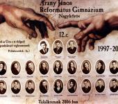 12.C osztály tablója 1997-2001-ből (Szkennelt tablókép)